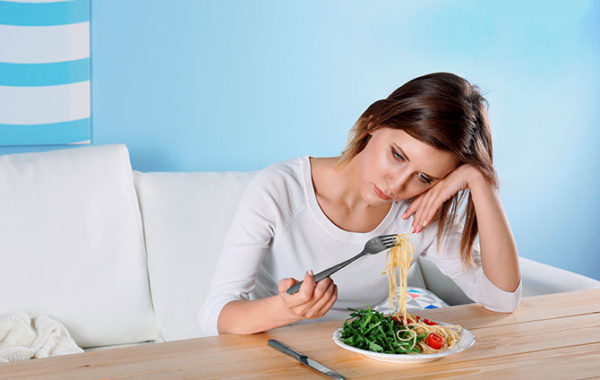 Расстройства питания (нервная анорексия, переедание)